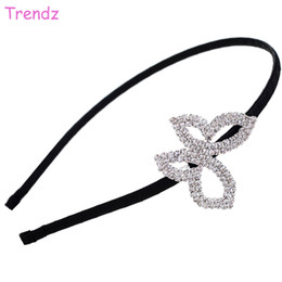 Yiwu Fashion Trendz Jewelry Beautiful Butterfly Hair Accessories Wedding Women Crystal Rhinestone Hair Bands Wholesale FG2513