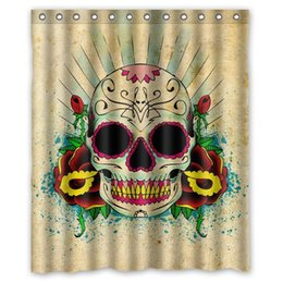 Wholesale Classic Floral Bath Curtain Print Pirate Skull Cool Pictures Custom Shower Curtain quot x quot