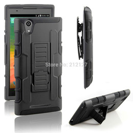 Wholesale USA hot sales new arrival colors red black blue holster stand case with clip for zte zmax z970 belt case