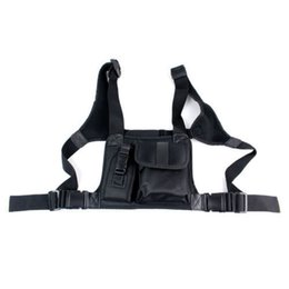 Wholesale New Walkie Talkie Details about Chest Pocket Pack Backpack Handset Radio Accessory Holder Bag Radios Carry Case
