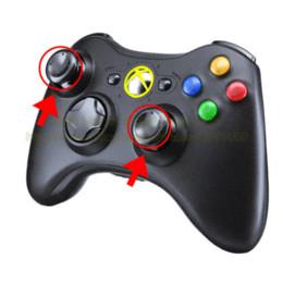 Acheter en ligne Bande de xbox-50pcs / lot de remplacement Analog Cover Joystick 3D Thumbstick Cap Pour Xbox 360 Controller, Livraison gratuite (noir) bande de bouchon