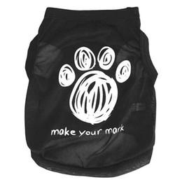 Wholesale Attractive Dog Footprints Pet Clothes Summer Vest Sleeveless Dog T Shirts Apparel Apr