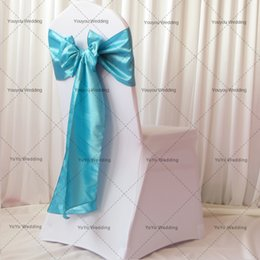 Sample Order Link: 1PCS White Spandex Chair Cover & 1PCS Organza Satin Sash With freight For Wedding Decor