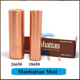 Wholesale Best Quality Manhattan Mod Clone Vape Mod Strong Magnet Switch vs Fuhattan Apollo Skyline M6 Vaporizer Mod DHL Free