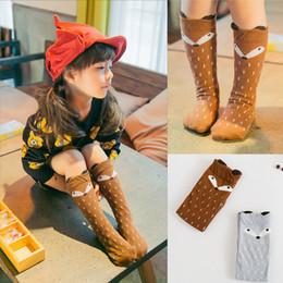 Girls Toddler Knee High Fox Socks Kids Cartoon Cotton Leg Warmers Infant Autumn Socks Children Christmas Gift 2015 Cute