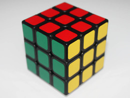 Wholesale-Free shipping!New Mini Fangshi(Funs) Shuang Ren 54.6mm Magic cube Black Body for speed cube puzzle