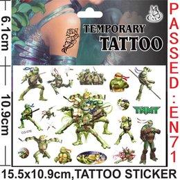 Wholesale Teenage Mutant Ninja Turtles The Avengers Anime Cartoon Tattoo Stickers Monster high Body complete tattoo kit Women Baby Children s Gif
