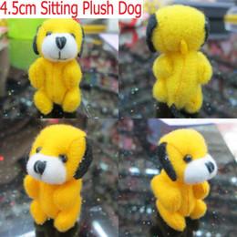 100pcs Lot H=4.5cm Yellow Cartoon Plush Tiny Dog Lovely Mini Perro Pendants,Stuffed Dolls,Plush Toys For Keychain Phone Bag