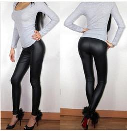 Spring Summer Women Leggings L XL XXL XXXL Full Length High Waist Middle-rise Elastic Flat Leather Pants Plus Size Sexy Leggings
