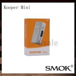 Billow v2 en Ligne-Système de pilote SMOK Koopor Mini 60W TC Mod Double VW mode 60W E-cigarette Mods Meilleur résultat Starre Pro réservoir Bulow V2