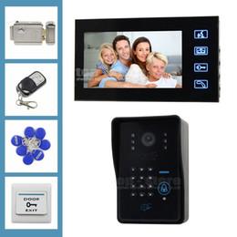 Touchez Key caméra IR Code de télécommande mot de passe clavier Lecteur RFID LCD 7inch système vidéo porte Sonnette Téléphone Intercom door intercom code deals à partir de porte le code d'interphone fournisseurs