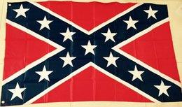 Wholesale Printed Flag Confederate Rebel Civil War Flag National Polyester Flag Banner X FT D by DHL