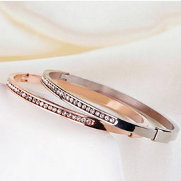 bangles bracelets bangles for women setting crystal stainless steel rose gold Bracelets & Bangles For Women bangles bracelets wholesales