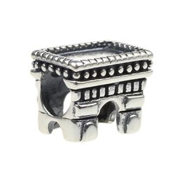 Beads Hunter Jewelry Authentic solid 925 Sterling Silver Triumphal Arch Charm big hole s925 bead For 3mm European Bracelets snake chains