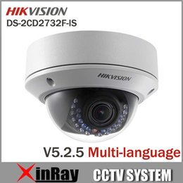 Wholesale Cmos 12mm - Newest V5.2.5 Hikvision DS-2CD2732F-IS 2.8-12mm vari-focal lens Dome Camera 2048X1536 POE Power Network IR IP CCTV Camera
