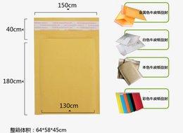 2017 burbuja de papel kraft Venta al por mayor 150 * 180 mm Top correo calidad Bolsas Kraft sobre de la burbuja de papel del arte poli exportación de la burbuja del envío libre Mailer burbuja de papel kraft Rebaja