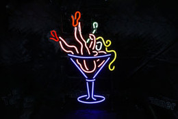 Wholesale Sexy Neon Signs - Wholesale-Red shoes cocktail girl Wineglass sexy women neon sign waterproof light for advertising 50*40cm