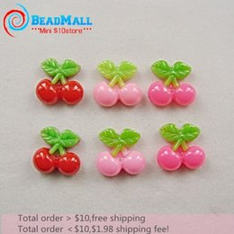 Wholesale Min order Cute Cherry fruits kawaii resin flatback cabochon Accessories scrapbooking mm DIY023