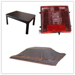 Wholesale set KotatsuTable Futon Heater Coffee Tables Sets Foldable Legs Reversible Table Top Rectangle cm Foot Warmer Heated Kotatsu Sets