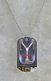 Back To The Future custom Pet Dog Tag pendant necklace Chain Metal Tags
