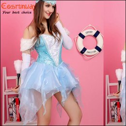 Wholesale Fascinating Lady Costume Cosplay Aquamarine Halloween Costumes For Women F