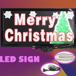 Wholesale Square led sign animated advertising shop sign celebrate Merry Christmas
