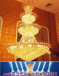 2017 pendeloques de cristal Penthouse Etage Villa Stairs Duplex Mansion Hôtel Lobby Grand Salon Lampe K9 lustre en cristal Pendentif droplight Lighting NEW MYY16669 pendeloques de cristal promotion