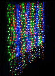 600 LEDs 6MX3M LED Waterfall Curtain Light Copper Wire String Fairy Sparkle Lights Party Xmas Free Shipping -Fedex