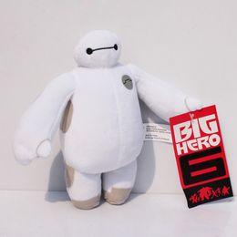 Wholesale 5pcs Big Hero Baymax Robot Stuffed Plush cm hands can t move Animals Toys Christmas Gfit for kids stuffed dolls