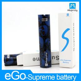 Las baterías nuevas vaporizador Majestad actualizan ego una batería de 2200mAh baterías Vape eGo Supremo precios 4 pilas de color DHL libre al por mayor desde precios al por mayor para las baterías del ego fabricantes
