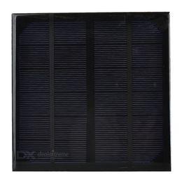 Silicio w en venta-Célula solar del silicio monocristalino 10pcs / lot 3W 6V para el panel solar del mini del cargador de DIY para el sistema solar de la prueba - NEGRO