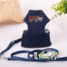 CJ062 Dog collars and harness dog leash jean harness for dogs pitbull collars harness for cats products for animals