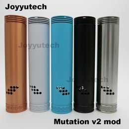 Wholesale Joyyutech Copper Mechanical Mods Match with Thread Best Vapor Mods Bottom Magnet Switch E cigarettes Mods Mutation V2 mod