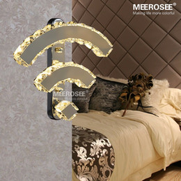 Modern Crystal Wall Lamp Chrome Mirror Finish Stainless Steel LED Wall Light Interior Decoration WIFI Wall Sconces MD81317