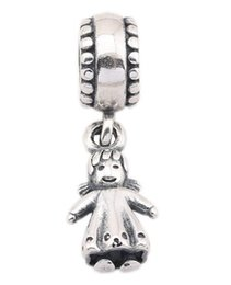 New 925 Sterling Silver Charms Ale Dangled Silver Girl Princess Charms for Pandora Bracelets DIY Beads Accessories
