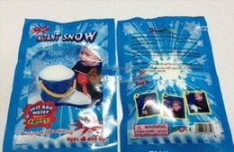 Wholesale Hot Magic Prop DIY Instant Artificial Snow Powder Simulation Fake Snow for Party Christmas Decoration for children baby gift with retail bag