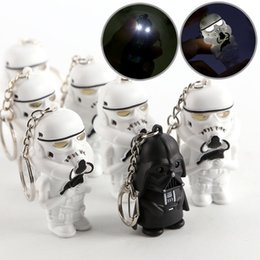 Wholesale Star Wars LED night lamps Darth Vader star war yoda action figure toys Storm Troop Anakin Skywalker figure keychains