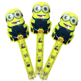 Wholesale Hot cm Despicable ME Minion cheering sticks balloons cartoon design baloons inflatable ballon sticks