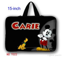 Wholesale Micky Mouse quot quot Laptop Sleeve Case Bag Cover Hide Handle For HP DELL ASUS Toshiba Acer