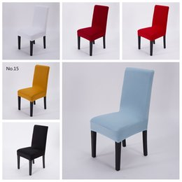 Wholesale Hole Universal Polyester Spandex Wedding Chair Covers Weddings Banquet Folding Hotel Chair Decoration Decor Cheap