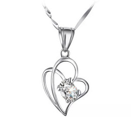 New High-grade Austria Crystal Love To Love Diamond 30% 925 sterling silver Pendant Necklace For Wedding Dress Sets Free Shipping