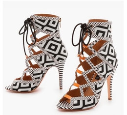 Hot Selling 2016 Summer Style Gladiator Brand Women Sandals Sexy Cut Out Thin High Heels Ankle Wrap Party Shoes Woman Open Toe