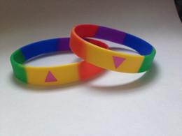 Silicone bracelet Six-color rainbowbracelet Gay Pride Rainbow Colour Bracelet .Multi-color bracelet Free shiping