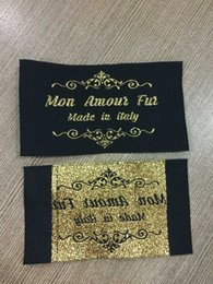 Wholesale and sample sewing suppliers woven labels for clothings custom clothing labels and tags with golden thread