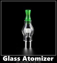 10pcs Glass Globe wax dome atomizer Electronic Cigarette drip tip Wax Oil Vaporizer Big Tank With Ceramic Heater Huge Vapor eGo Series
