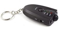 Hot vente professionnel portable de la respiration souffle Breathalyzer alcool testeur Keychain avec boîte de vente au détail Livraison gratuite à partir de alcool trousseau fabricateur