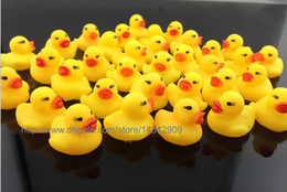 2000pcs New Baby Bath Water Toy toys Sounds Yellow Rubber Ducks Kids Bathe Children Swiming Beach Duck Ducks Gifts