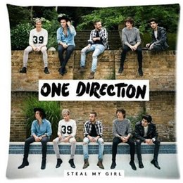 Wholesale-X Factor Famous Band Music Stars One Direction 1D Signature Blue Wave Ocean Cartoon Funny Custom Cotton & Polyester Soft