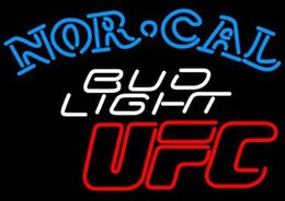 Wholesale Revolutionary Light Signs Super Bright Bud Light Nor Cal UFC Neon Beer Signs24 quot x20 quot Available multiple Sizes