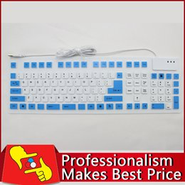 Argentina Wholesale-108 llaves plegables impermeable flexible suave silicona MINI WIRED teclado USB para Tablet PC cheap wired usb silicone keyboard wholesale Suministro